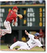 Todd Helton and Aaron Hill Canvas Print