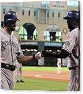 Todd Helton and Dexter Fowler Canvas Print