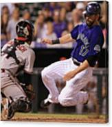 Todd Helton and Jordan Pacheco Canvas Print