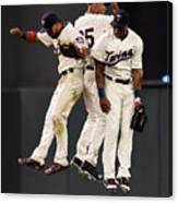 Torii Hunter, Byron Buxton, and Eddie Rosario Canvas Print