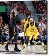 Trevor Booker and Lebron James Canvas Print
