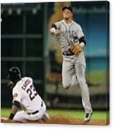 Troy Tulowitzki and Chris Carter Canvas Print