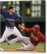Troy Tulowitzki and Martin Prado Canvas Print