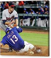 Tyler Duffey, Chris Gimenez, and Joey Gallo Canvas Print
