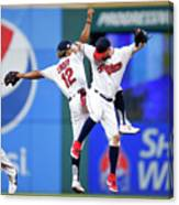 Tyler Naquin And Francisco Lindor Canvas Print