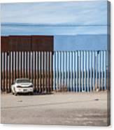 US-Mexico border fence Canvas Print
