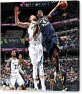 Victor Oladipo and Marc Gasol Canvas Print