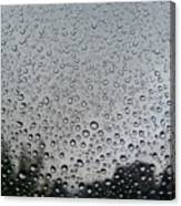 View Of Rain On Window Glass Canvas Print