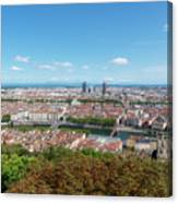 Viewpoint To The City Of Lyon Canvas Print