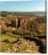 Views Of The Town Of Hostalric In Girona Canvas Print