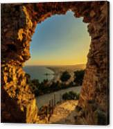 Views To Blanes From The Castle Canvas Print
