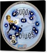 Vogue Record Art - R 707 - P 5, Blue Logo - Square Version Canvas Print