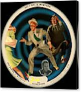 Vogue Record Art - R 714 - P 22, Yellow Logo - Square Version Canvas Print