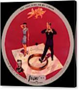 Vogue Record Art - R 722 - P 8 - Square Version Canvas Print
