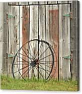 Wagon wheel - Londonderry New Hampshire Canvas Print