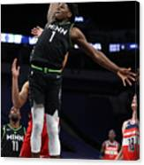 Washington Wizards v Minnesota Timberwolves Canvas Print