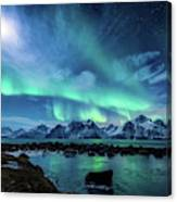 When the moon shines Canvas Print