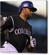 Wilin Rosario and Mike Minor Canvas Print