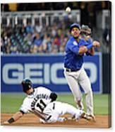Will Middlebrooks and Starlin Castro Canvas Print
