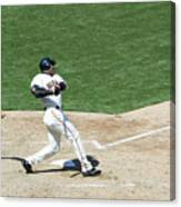 Willie Mays and Barry Bonds Canvas Print