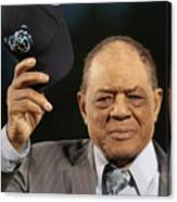 Willie Mays and Hank Aaron Canvas Print