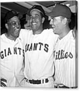 Willie Mays, Juan Marichal, and Johnny Callison Canvas Print