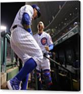 Willson Contreras and Javier Baez Canvas Print
