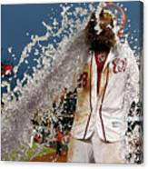 Wilson Ramos and Jayson Werth Canvas Print