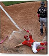 Wilson Ramos and Ryan Zimmerman Canvas Print
