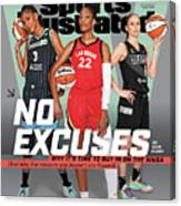 WNBA Turns 25 No Excuses Sports Illustrated Cover Canvas Print