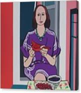 Woman, Bird, and Berries - A Tribute to Henri Matisse Canvas Print