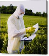 Worker For Quality Control In The Field Canvas Print