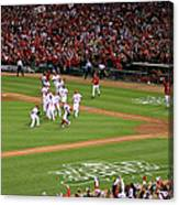Yadier Molina and Jason Motte Canvas Print