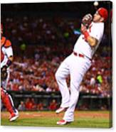 Yadier Molina and Matt Adams Canvas Print