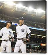 Yangervis Solarte and Derek Jeter Canvas Print