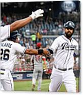 Yangervis Solarte, Will Venable, and Matt Kemp Canvas Print