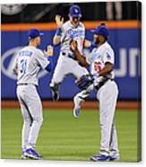 Yasiel Puig and Joc Pederson Canvas Print