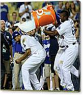 Yasiel Puig and Matt Kemp Canvas Print