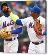 Yoenis Cespedes and Amed Rosario Canvas Print