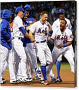 Yoenis Cespedes and David Wright Canvas Print