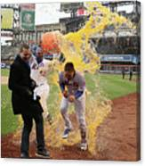 Yoenis Cespedes and Wilmer Flores Canvas Print