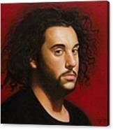 Young Man in Black Canvas Print