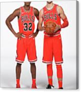 Zach Lavine and Kris Dunn Canvas Print