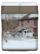 Ohio Snow Plow Duvet Cover