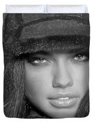 # 5 Adriana Lima Portrait Duvet Cover