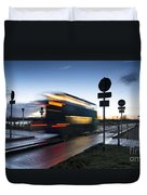 A Guided Bus Cambridgeshire Uk Duvet Cover