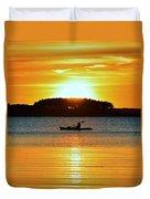 A Reason To Kayak - Summer Sunset Duvet Cover