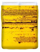 Abstracted In Ochre Duvet Cover