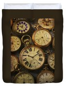 Aged Pocket Watches Duvet Cover
