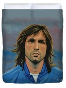 Andrea Pirlo Duvet Cover by Paul Meijering